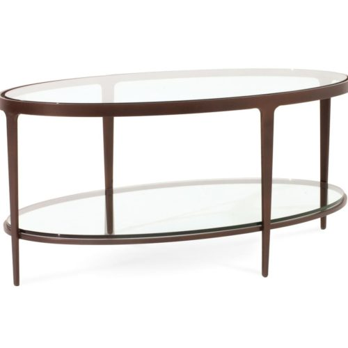 Charleston Forge Ellipse Cocktail Table at Mums Place Furniture Monterey CA
