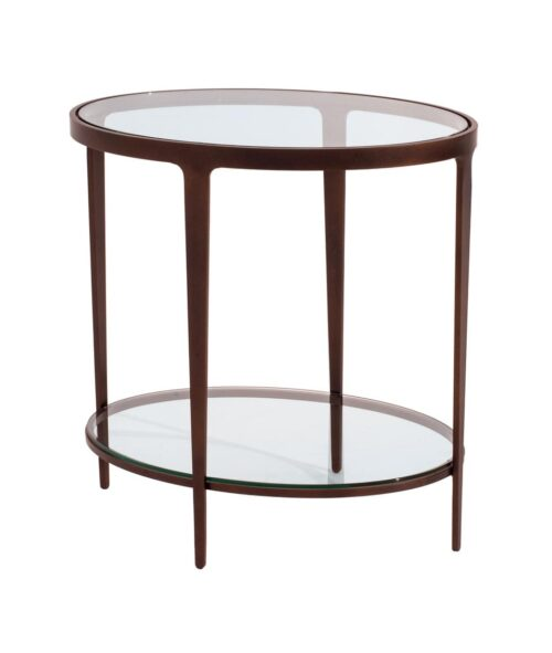 Charleston Forge Ellipse End Table at Mums Place Furniture Monterey CA