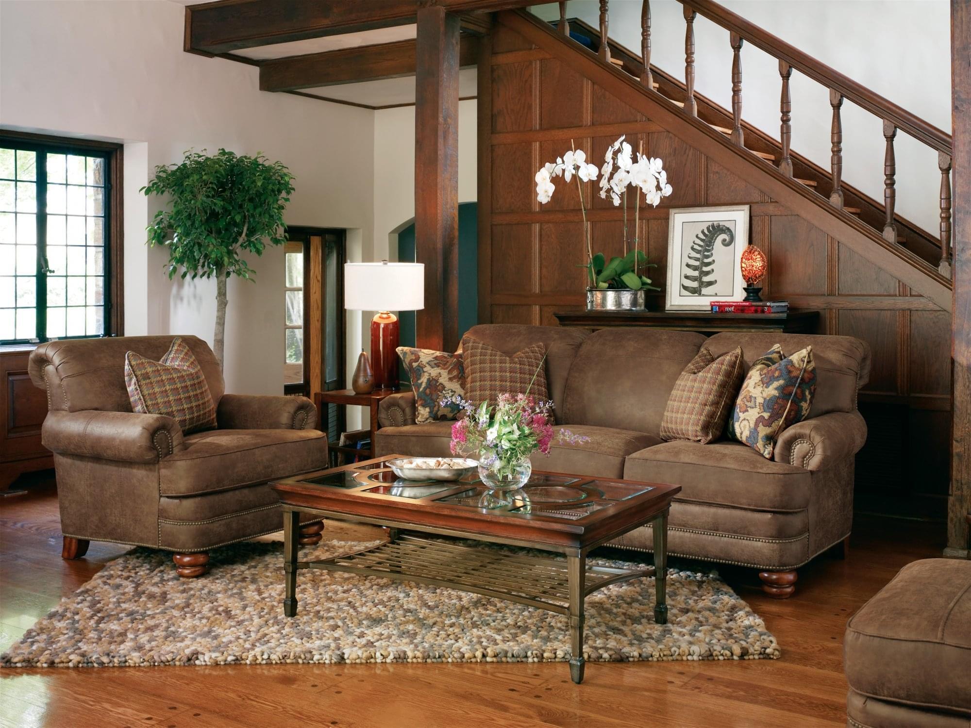Flexsteel Furniture Bay Bridge Sofa Living Room at Mums Place Furniture Monterey CA
