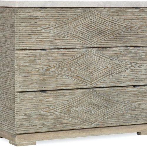Charleston Forge Amani Three-Drawer Accent Chest at Mums Place Furniture Monterey CA