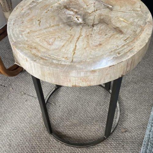 Palecek Petrified Wood Table at Mums Place Furniture Monterey CA