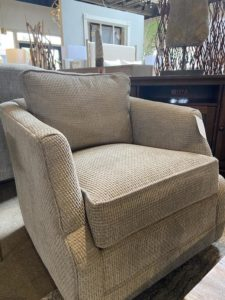 Taylor King Atticus Swivel Glide Chair at Mums Place Furniture Monterey CA