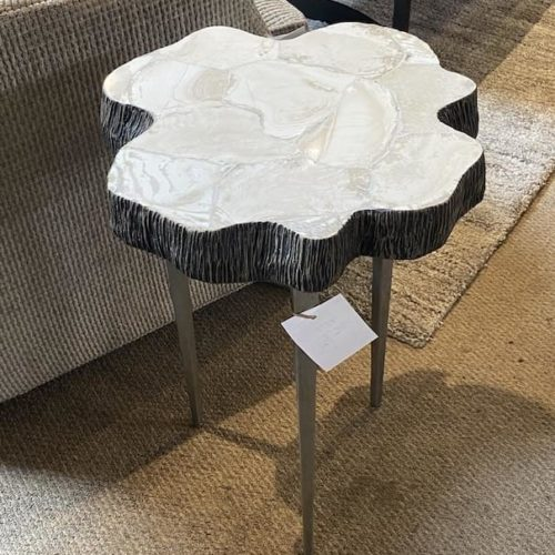Palecek Cooper Chloe Fossil Clam Shell Table at Mums Place Furniture Monterey CA