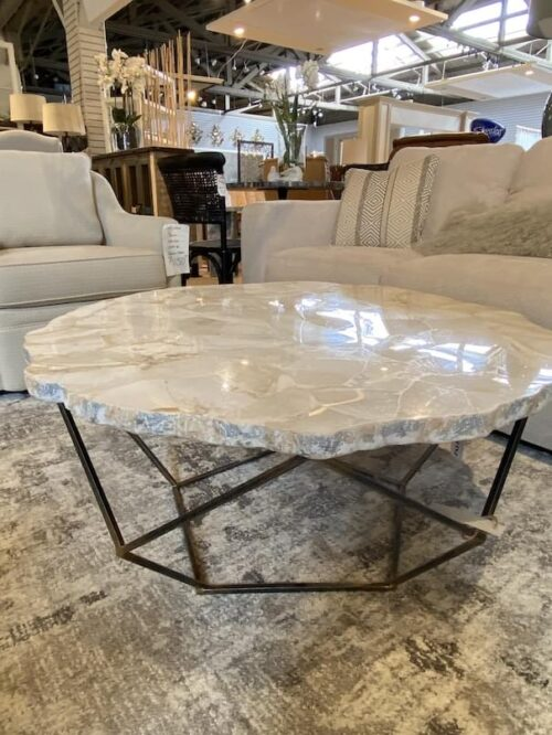 Palecek Fossilized Clam Shell Coffee Table at Mums Place Furniture Monterey CA