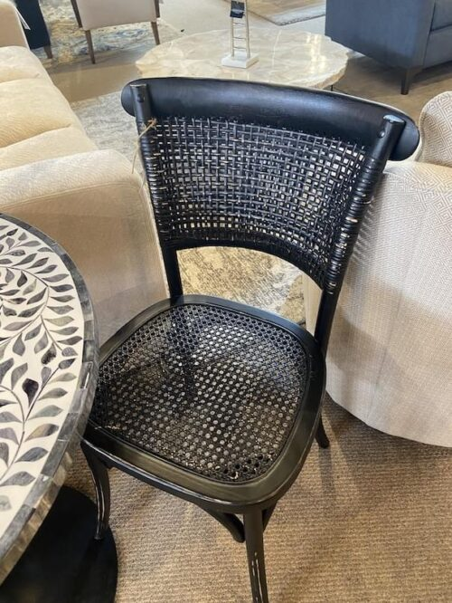 Moes Churchill Distressed Black Bistro Chair at Mums Place Furniture Monterey CA