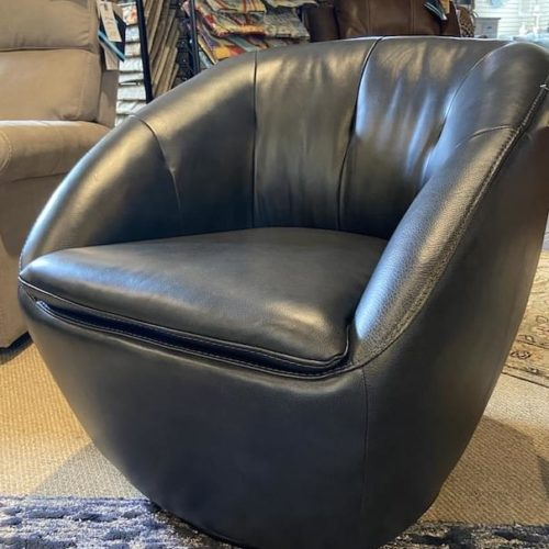 Flexsteel Wade Swivel Leather Chair at Mums Place Furniture Carmel CA