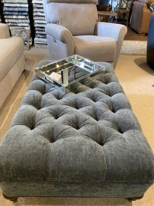 Lee Industries Tufted Cocktail Ottoman at Mums Place Furniture Monterey CA