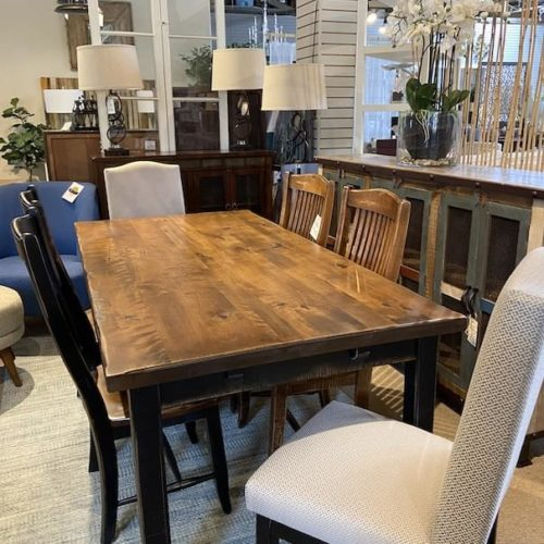 Canadel Champlain Dining Collection - wood table at Mums Place Furniture Carmel CA