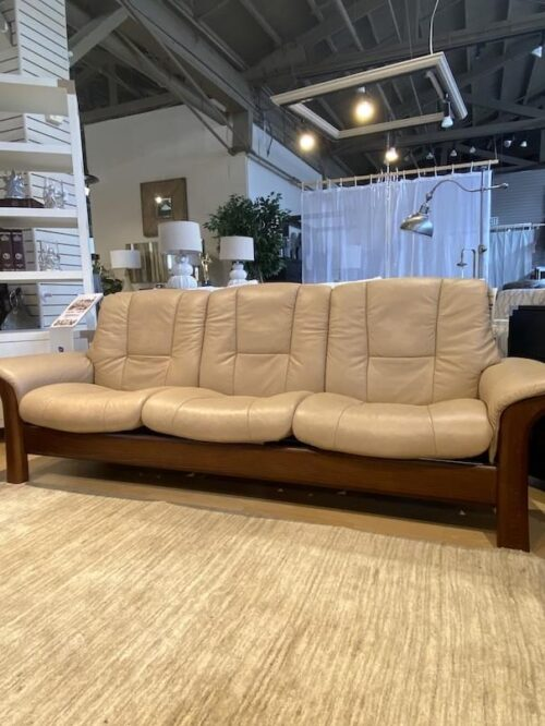 Stressless Buckingham sofa at Mums Place Furniture Carmel CA