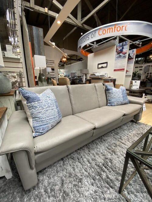 Stressless Aurora sofa at Mums Place Furniture Monterey CA