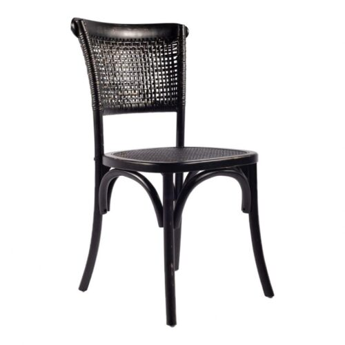 Moes Churchill Dining Chair Antique Black at Mums Place Furniture Monterey CA