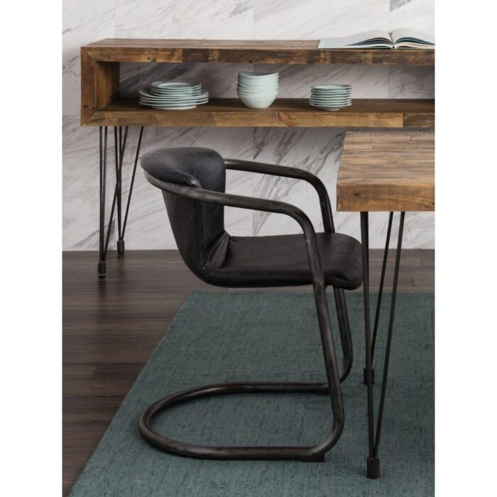 Moes Freeman Dining Chair Antique Black at Mums Place Furniture Monterey CA