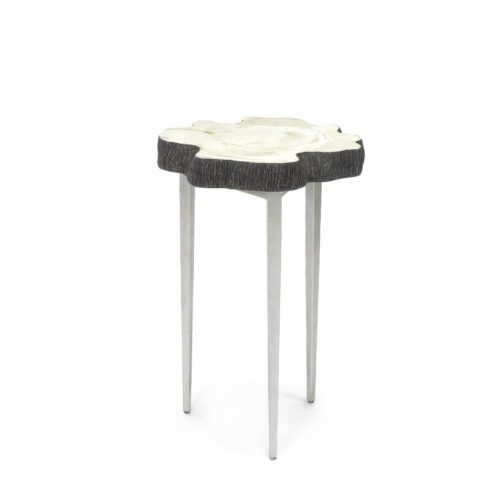 Palecek Chloe Fossilized Clam Side Table at Mums Place Furniture Carmel CA