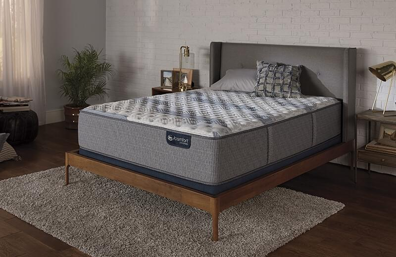 Serta Blue Fusion 100 Firm mattress for Bedroom at Mums Place Furniture Monterey CA