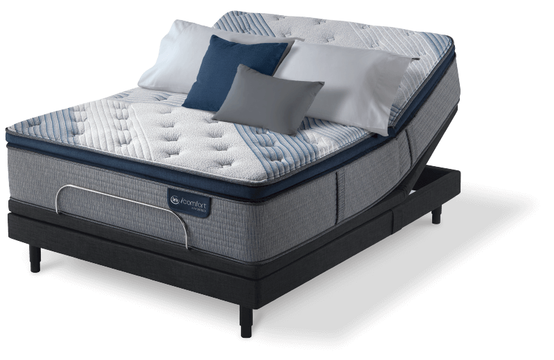 Serta Blue Fusion 1000 Luxury Firm Pillow Top mattress for Bedroom at Mums Place Furniture Monterey CA