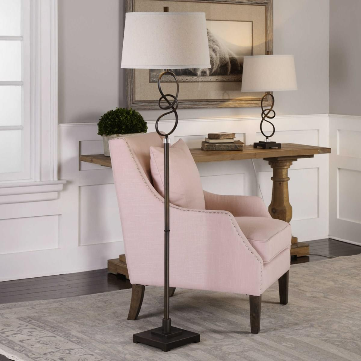 Uttermost Tenley Floor Lamp at Mums Place Furniture Monterey CA
