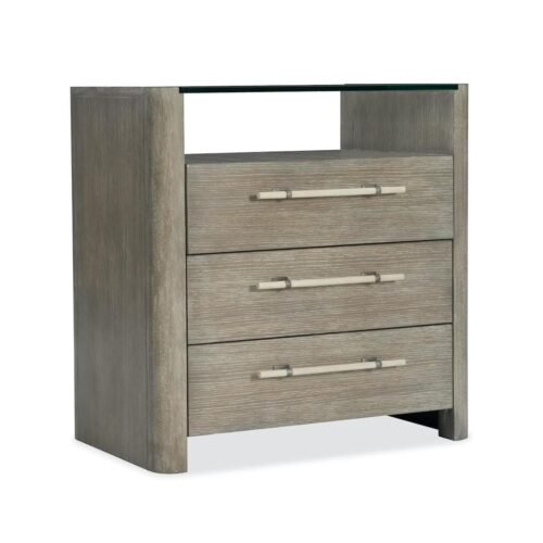Hooker Furniture Affinity Three-Drawer Nightstand at Mums Place Furniture Carmel CA